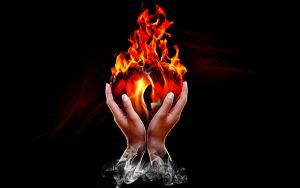 Flaming heart.. by yemzee