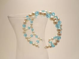 Pearl and Crystal Cuff 27 by TheSortedBead