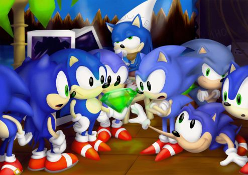 Bunch of hedgehogs by SuperBro1997