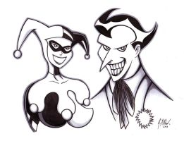 Harley Quinn and The Joker by ND4SPD911