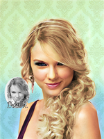 Taylor Swift colorization by Miss-Chili