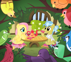 Tea time for the animal caretakers by PepperSupreme