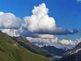 Clouds over the lake by edelweiss26