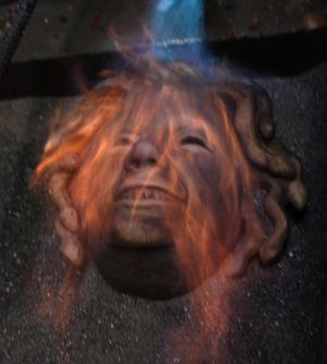 Medusa in flames