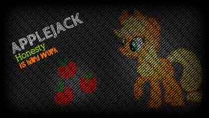 Applejack Wallpaper: typography style by KennyKlent