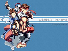 Chun-Li and Ryu by Mizumi08