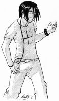 Air Guitar Ishida by raevene