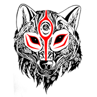 Tribal-esque Okami by SilverMarten