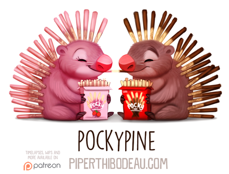 Daily Paint 1591. Pockypine by Cryptid-Creations