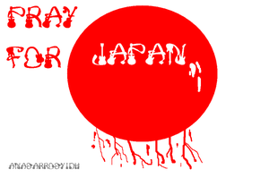 pray for japan by anasarrosyidh