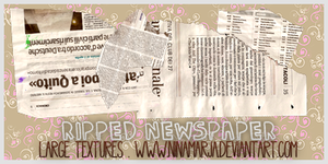 Ripped Newspaper Textures by Ninamarja