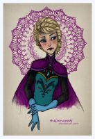Queen Elsa by TheJoanaPADJ