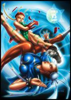 Chun-Li vs Cammy by JasonCardy