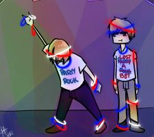 Party Rockin' With America and UK by WaWaZePanda