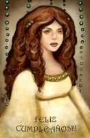 Bday Gift - Curly hair Doll by BlackAngel-Diana