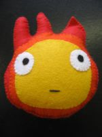 Calcifer the cute fire Demon by kickass-peanut