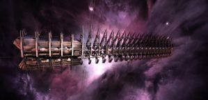 Cylon Resurrection Ship _WIP6_ by TodayV4