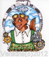 Megaplex_Prefect Badge Commission by Venikins