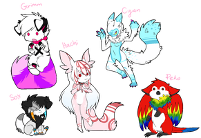 Fursonas by AlphaStars