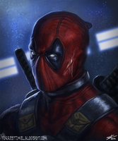 Deadpool Portrait 2 by ForrestImel
