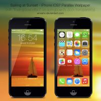 Sailing at Sunset - iPhone 5 iOS7 Wallpaper by anxanx