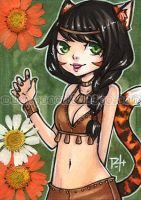 aceo - tigerlily by demon-rae