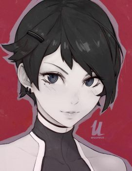 Short haired girl by Unsomnus