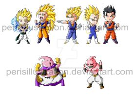 Dragon Ball Chibis: Boo Saga by PerisIllustration