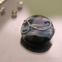 Blue Swirls Lampwork Focal by booga119