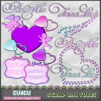 .Valentine Mix Preview Scrap and Tubes by ZaZaScrapAndTubes