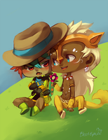 Comm: Joansey and Celt by BloodnSpice