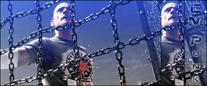 CM Punk in the Elimination Chamber Banner by Cyrdanwwe