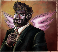 Suit and Aasimar (colouring) by JarODragon