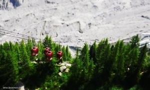 Mer De Glace - Cable Car Tilt Shift by Lattas