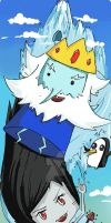Ice King and Marceline bookmark by L0C0CH0C0B0