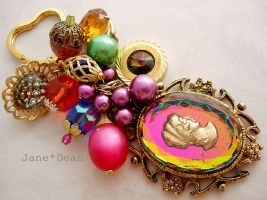 Psychedelic cameo keychain by janedean