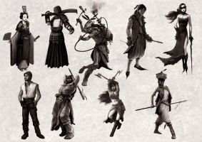 Fearia character designs by MarcSimonetti