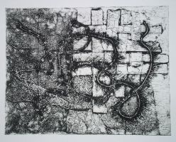 untitled collagraph by Melibells