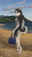 Walk on the Beach by Choedan-Kal