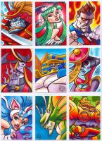 Darkstalkers Sketchcards part 1 by Chad73