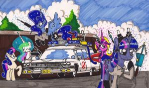The Royal Ghostbusters by newyorkx3
