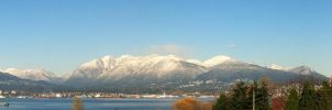 Snowy Vancouver Pano by 154600Lire