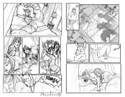 Commission 01 COMIC rough by ElementJax