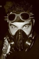 Gas Mask Dan by crimsonmansion