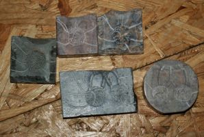 Coin moulds by Dewfooter