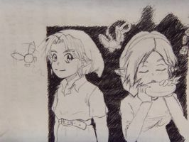 Young Link x Saria by PenclGuy