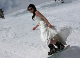 I are Snowboarding Bride by Fillabula