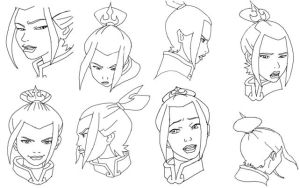 Azula head Model Sheet by Azula-fans