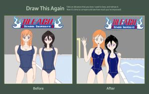 Draw This Again Contest Entry: Orihime and Rukia by AJV7
