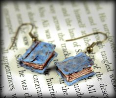 Light Blue Beloved Book Earrings by NeverlandJewelry